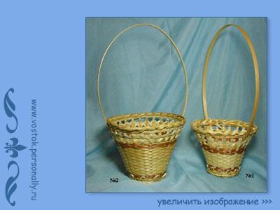 плетенная корзина из бамбуковой соломы