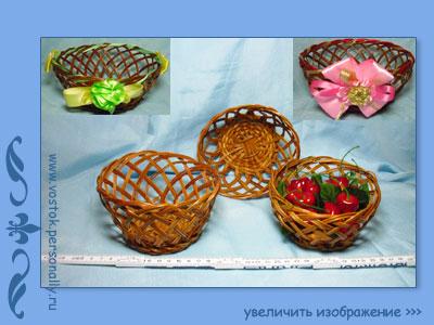 декоративные корзиночки плетеные