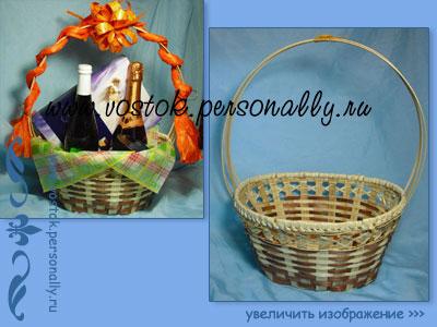 плетеная корзина из бамбуковой соломки