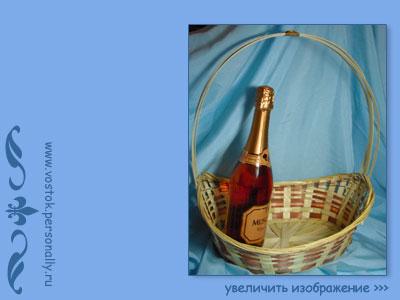 плетеная корзина из бамбуковой соломки большая