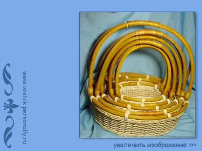 плетеная корзина из ротанга