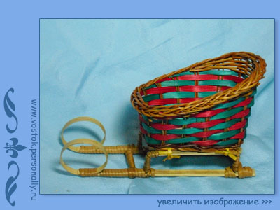 сани плетеные