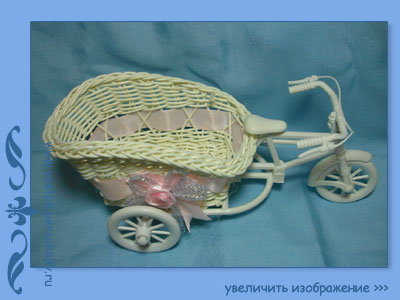 плетеная корзина велосипед