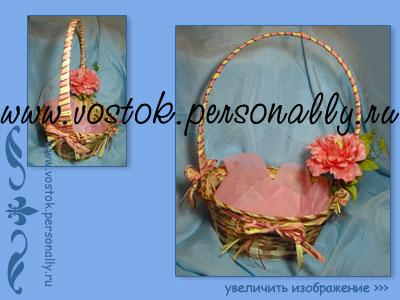 плетенная корзина декорированная