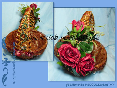 плетенная корзинка с декором для подарка