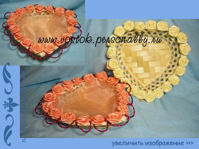хлебница плетеная с декором для подарка