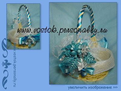 корзина рождественская подарочная