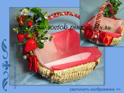 корзина декорированная подарочная