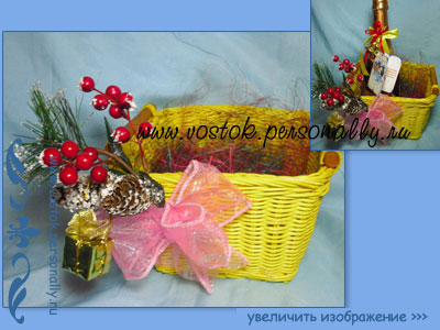 корзина декорированная для подарка