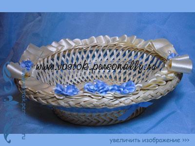 плетенная корзина декорированная для подарка