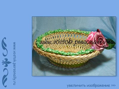 плетенная корзинка декорированная для подарка