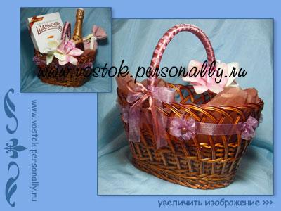 плетеная корзина для подарка декорированная подходит в качестве пасхальной корзины