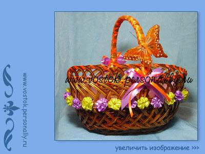 плетеная корзина подарочная продуктовая