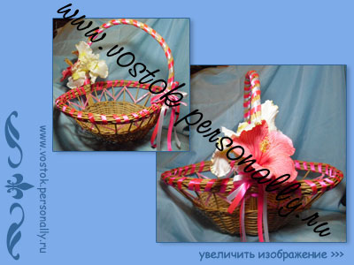 плетеная корзина подарочная
